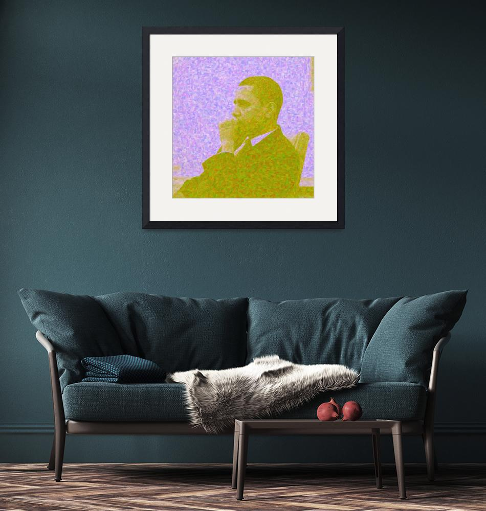 """""""Abstract Portrait of President Barack Obama 30x30""""  by motionage"""