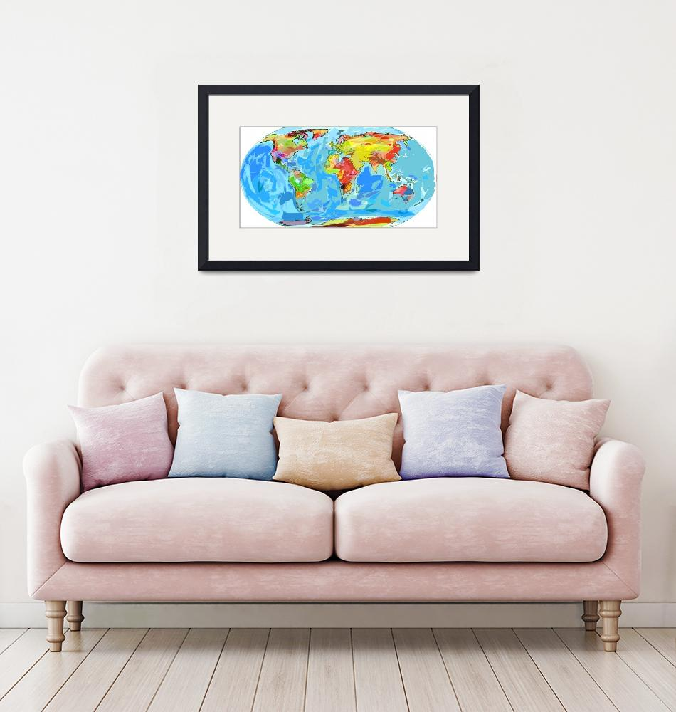 """World Ocean Currents Map""  (2012) by DavidLloydGlover"
