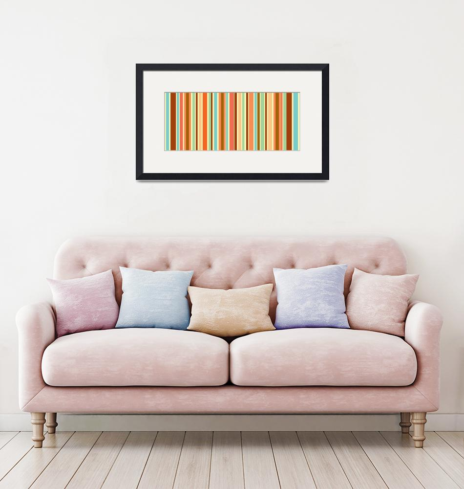 """Orange Sherbet Stripes""  by karynlewis"