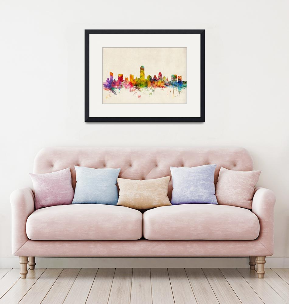 """Austin Texas Skyline""  (2013) by ModernArtPrints"