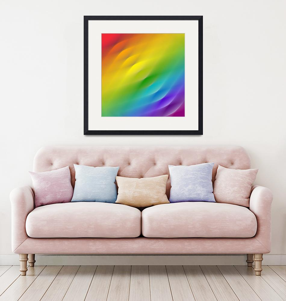 """""""color wheel square blur""""  (2008) by AngelaHayden"""