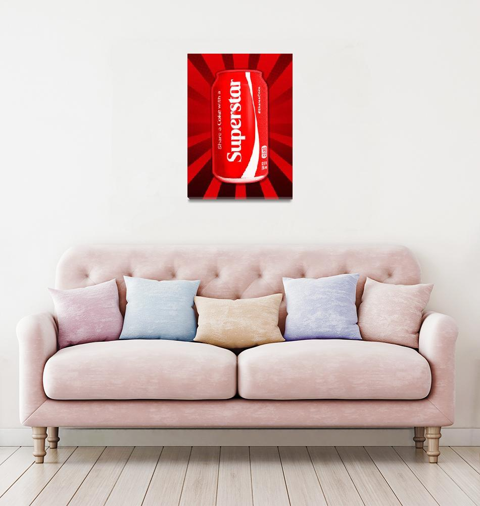 """Coca Cola   Coke   Superstar   Pop Art""  (2014) by wcsmack"