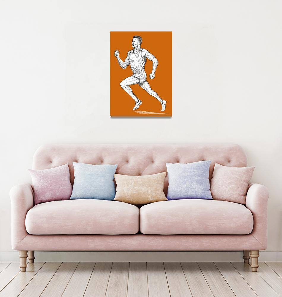 """""""track and field athlete running""""  (2013) by patrimonio"""