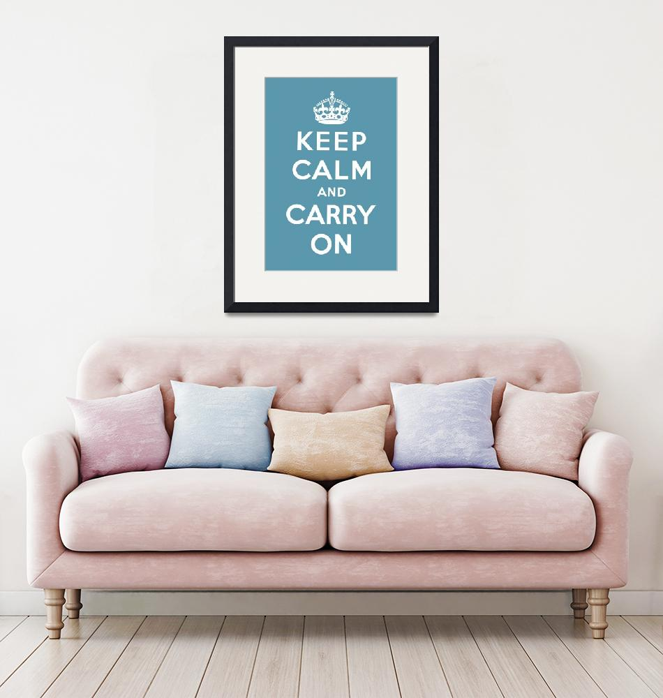 """""""Blue Keep Calm And Carry On 7""""  by oldies"""