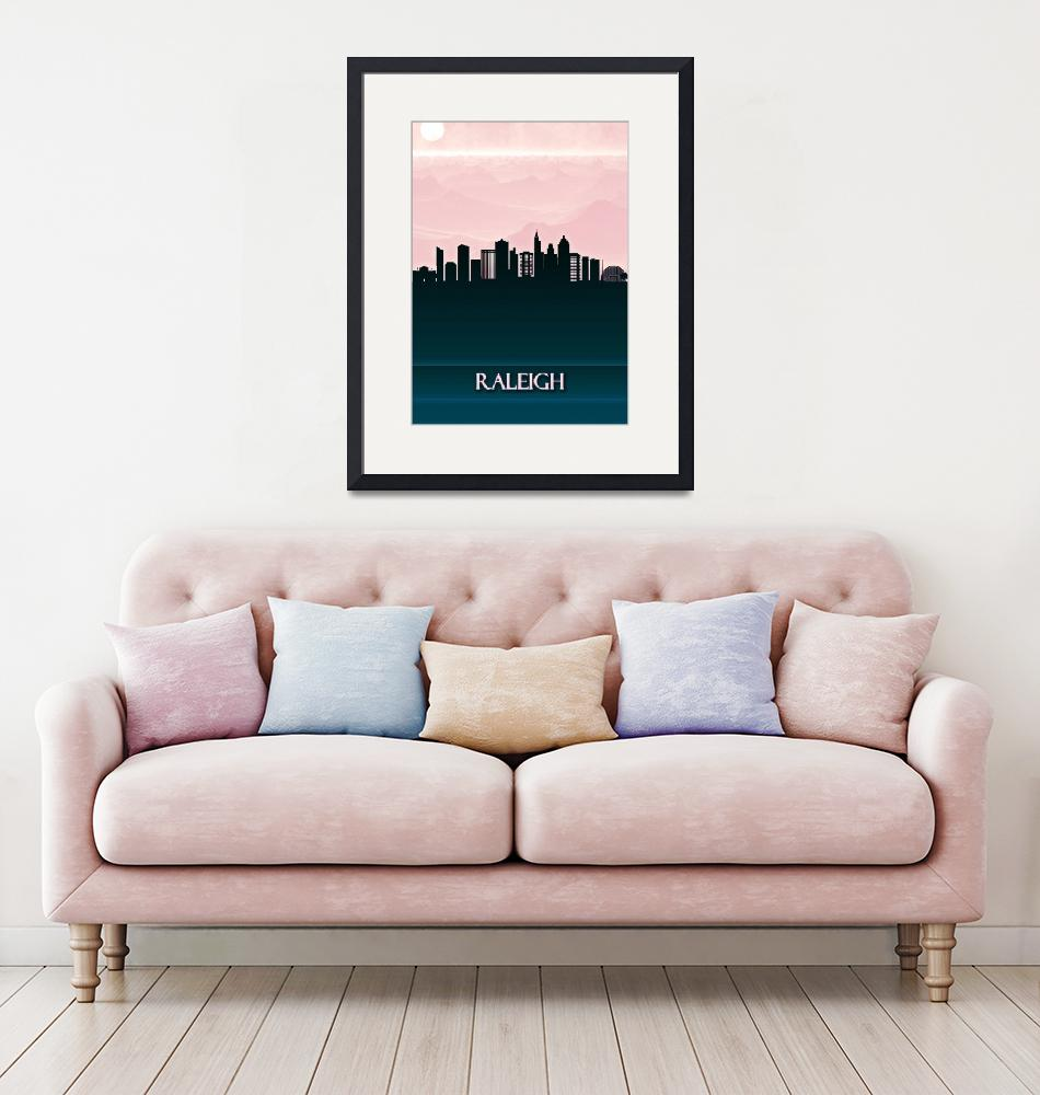 """""""Raleigh City Skyline""""  by Towseef"""