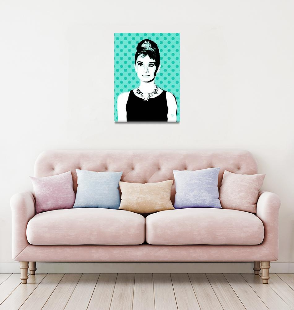 """Audrey Hepburn - Tiffany Too - Pop Art""  (2014) by wcsmack"