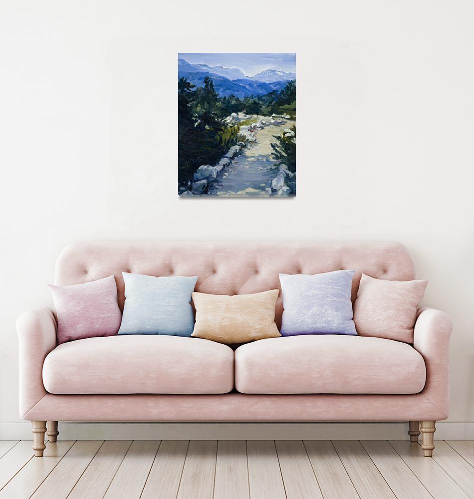"""Trail to Whistler Mountain, British Columbia Print""  (2007) by KeatingArt"