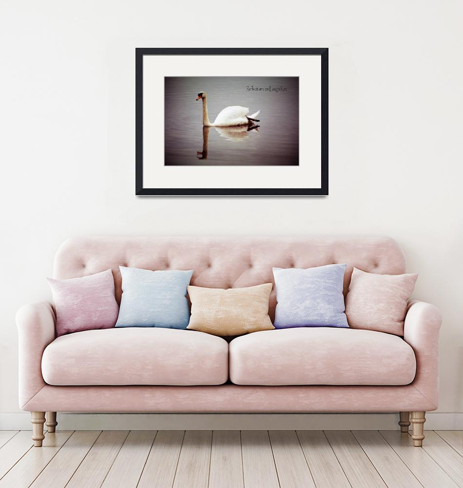 """""""Reflections of a Swan""""  (2017) by MichealAnthony"""