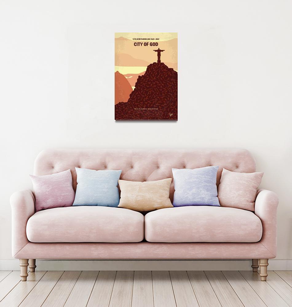 """No716 My City of God minimal movie poster""  by Chungkong"