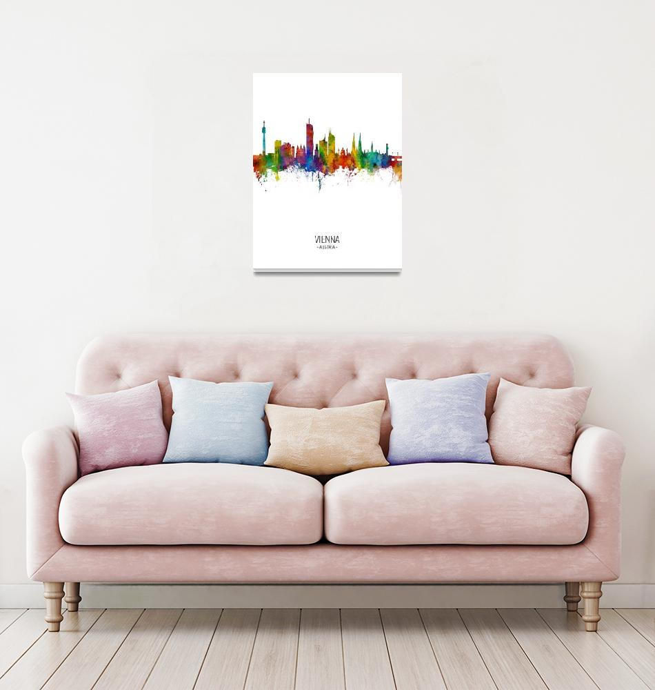"""Vienna Austria Skyline""  (2018) by ModernArtPrints"