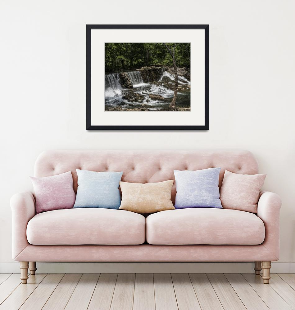 """""""Old Stone Dam""""  (2019) by LouiseReeves"""
