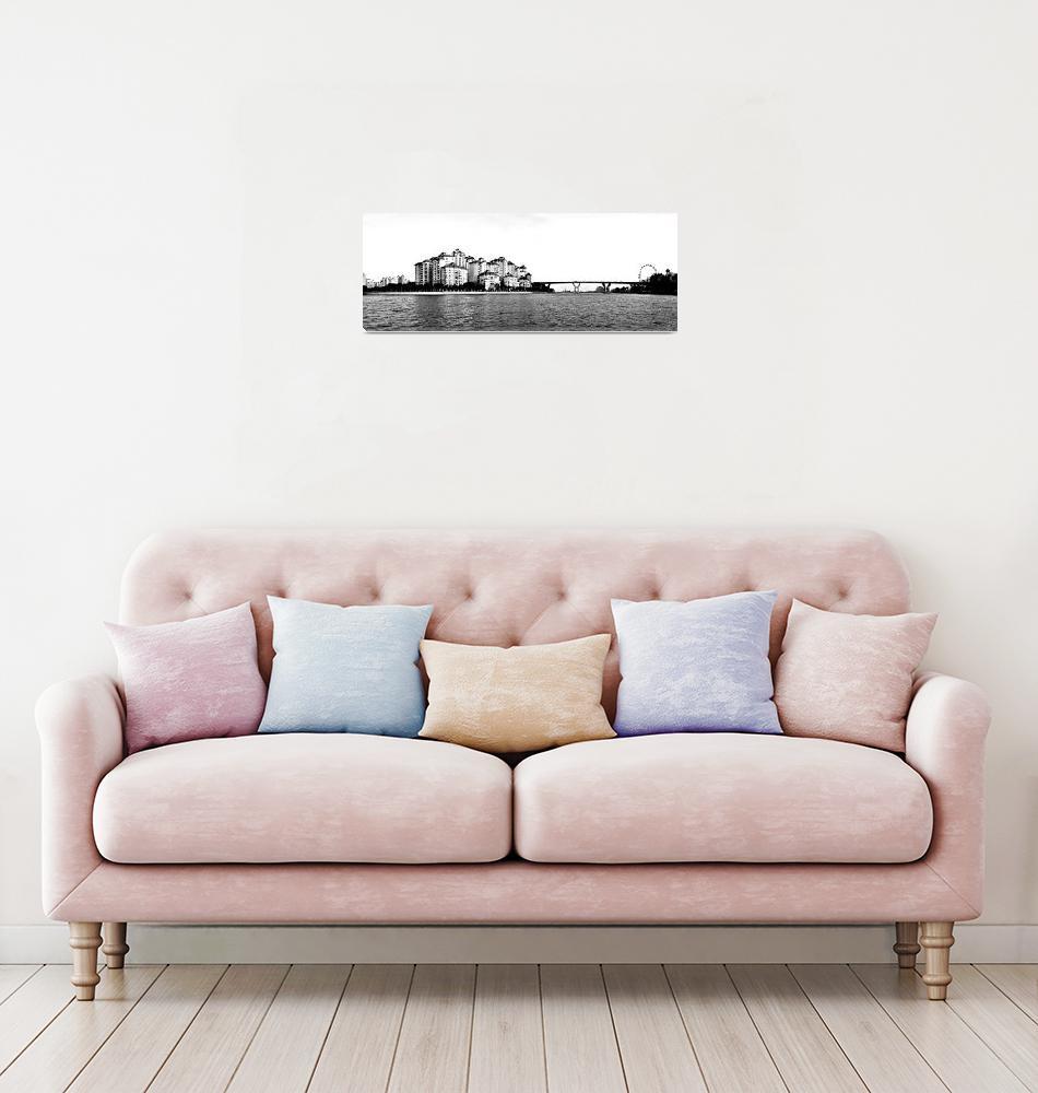 """Kallang River Singapore Panorama""  by sghomedeco"