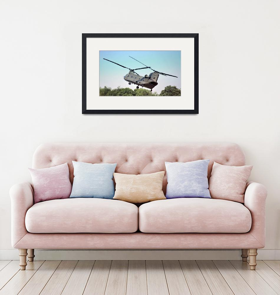 """RAF Chinook Helicopter""  (2010) by Paul_Rumsey"