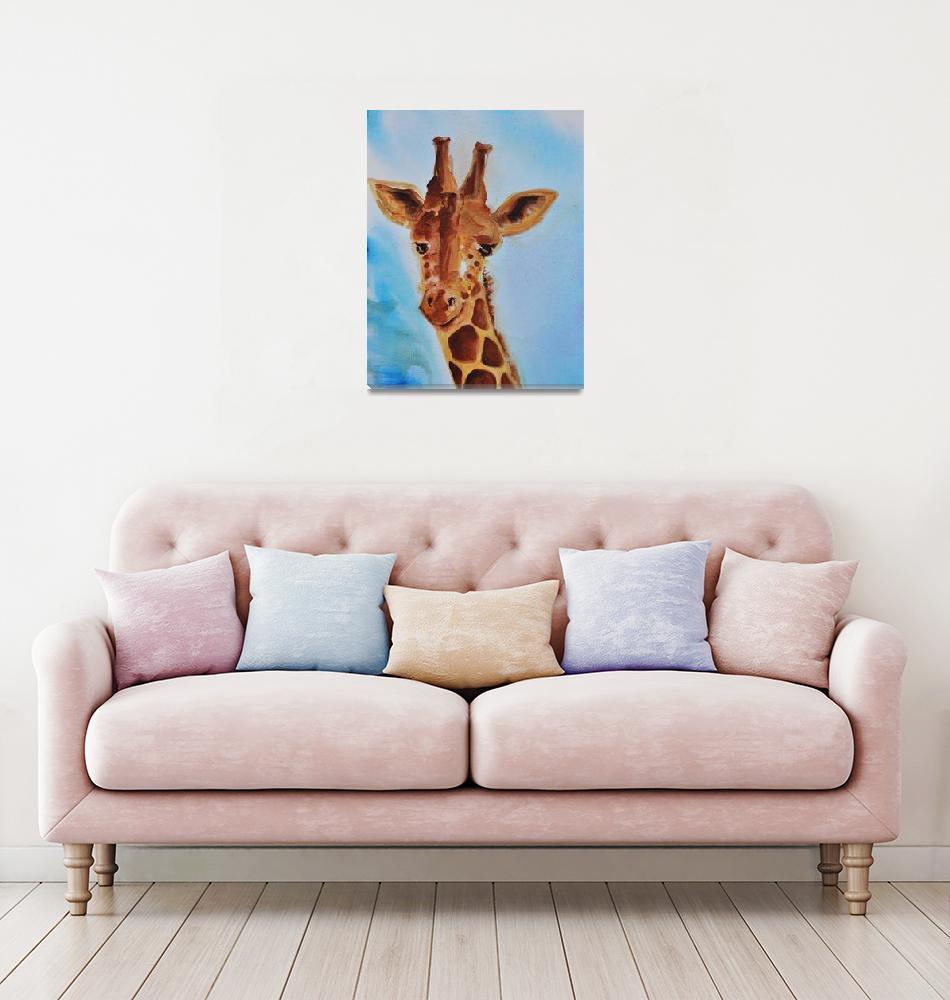 """""""Gentle Giraffe""""  (2012) by AmyElizabethArt"""
