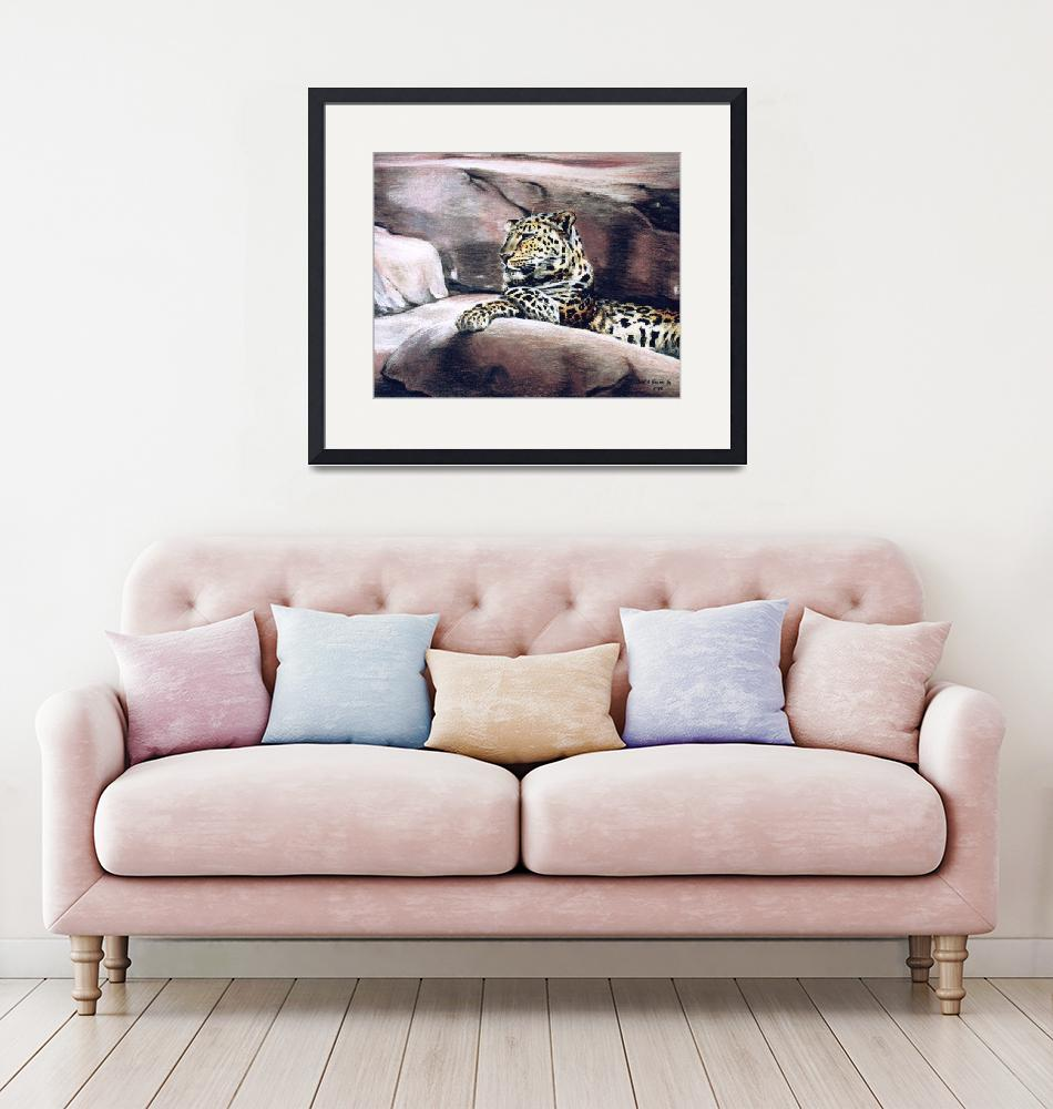 """""""""""Leopard Lounging""""""""  (1998) by BurkeHiggins"""