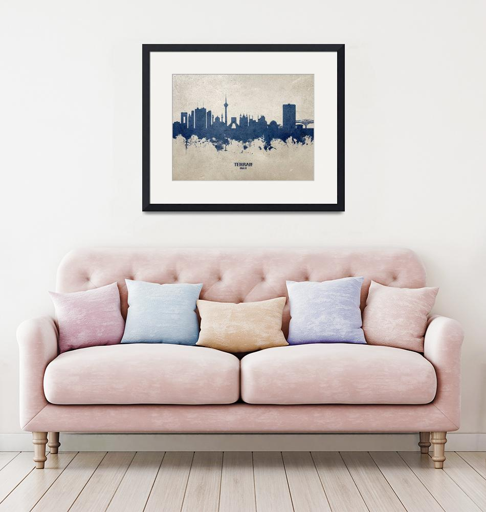"""Tehran Iran Skyline""  (2020) by ModernArtPrints"