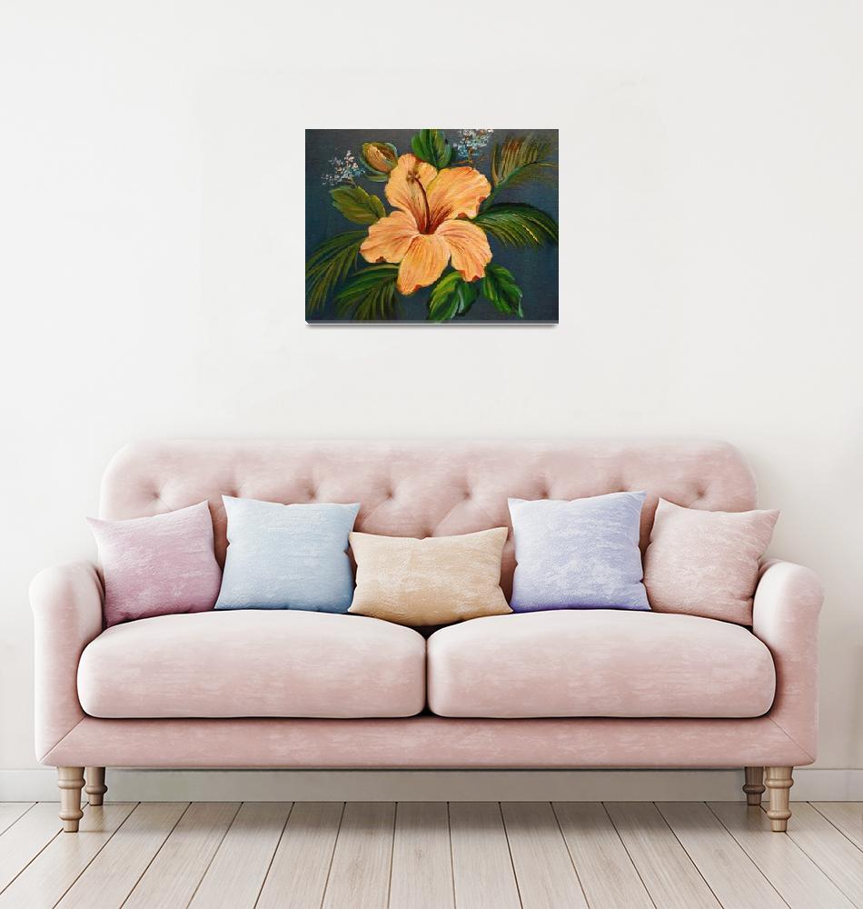 """Hawaiian Tropical Hibiscus""  (2014) by jennylee"