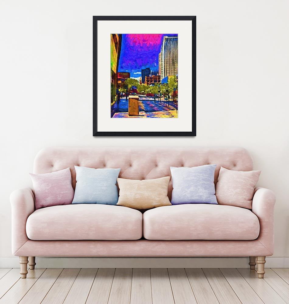 """""""Denver 16th Street Mall In Fauvism""""  (2019) by Kirtdtisdale"""