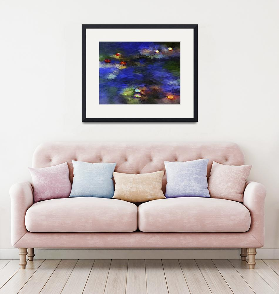 """""""Pond with Lilies Inspired by Monet""""  (2008) by milannadesign"""