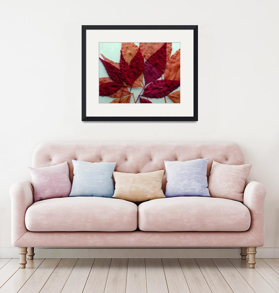 """""""Blended Leaves""""  (2017) by RuthPalmer"""