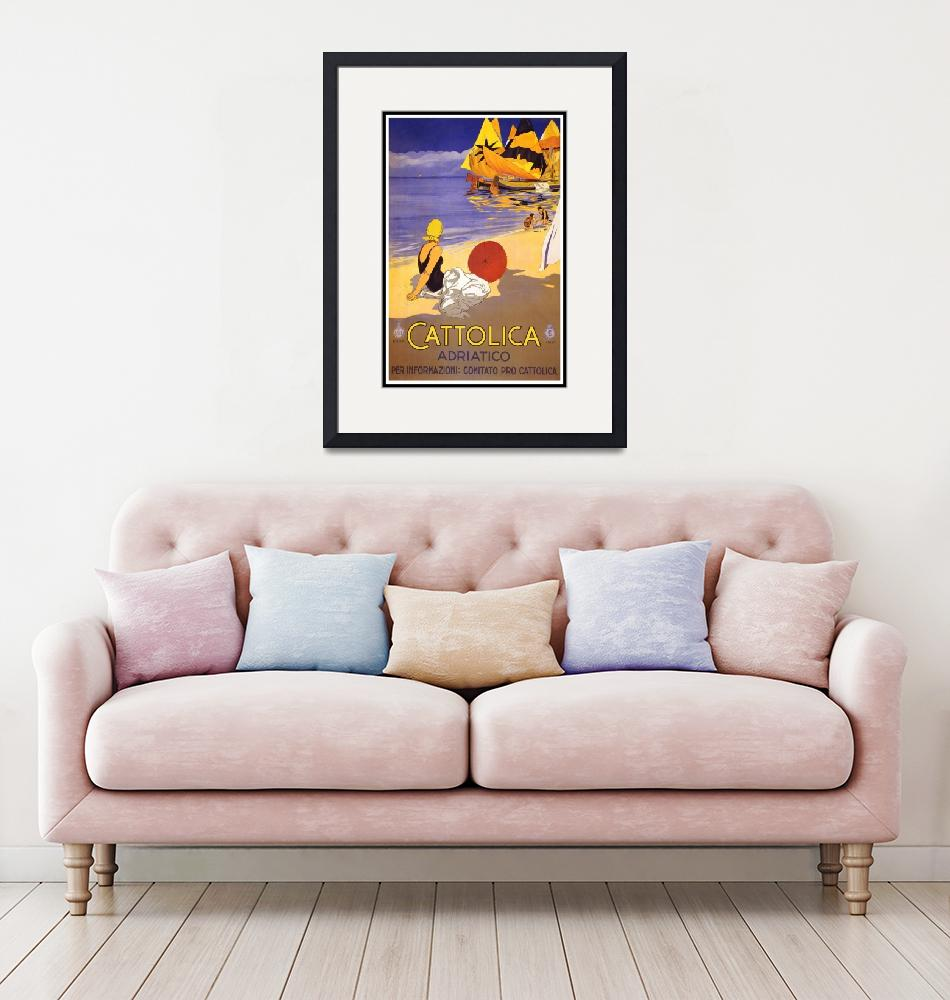 """""""Italy Vintage Travel Poster""""  by shanmaree"""