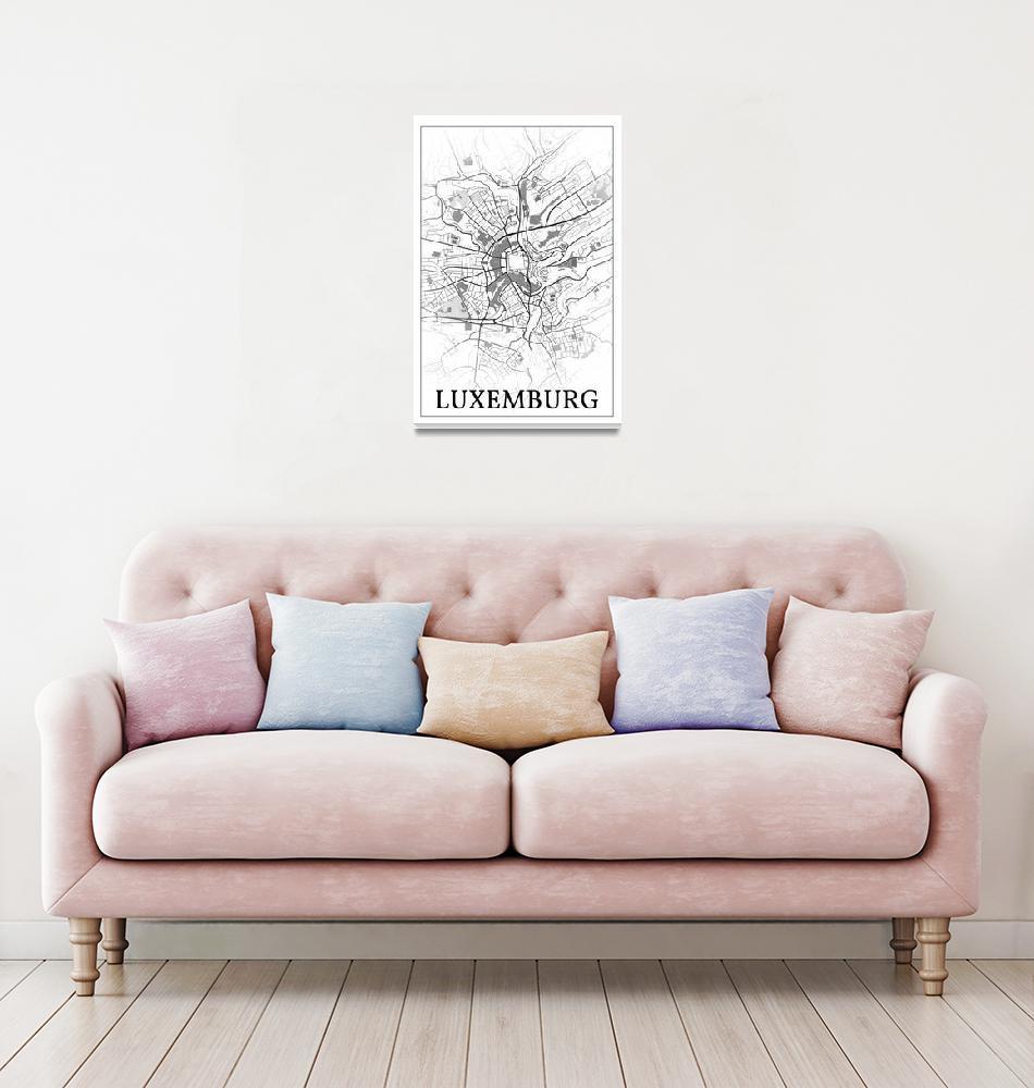 """Luxemburg, Luxemburg, city map print.""  by dandistudio"