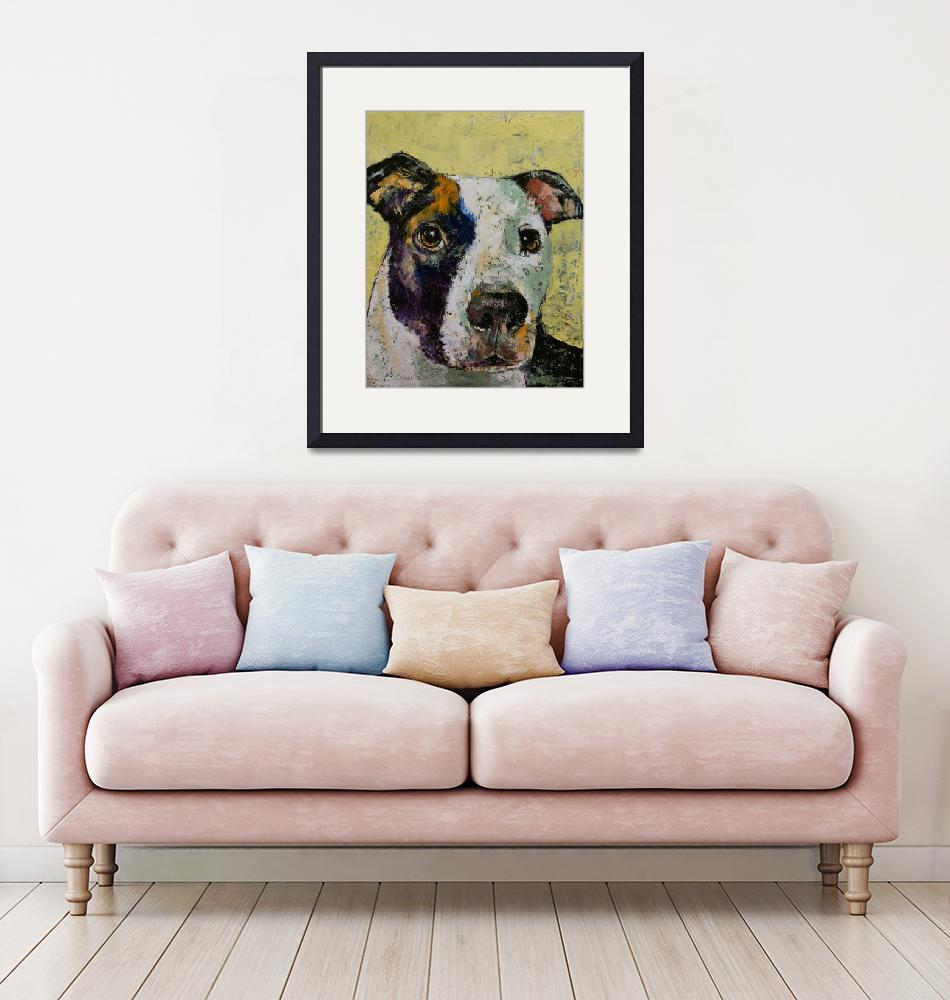"""""""Pit Bull Portrait""""  by creese"""