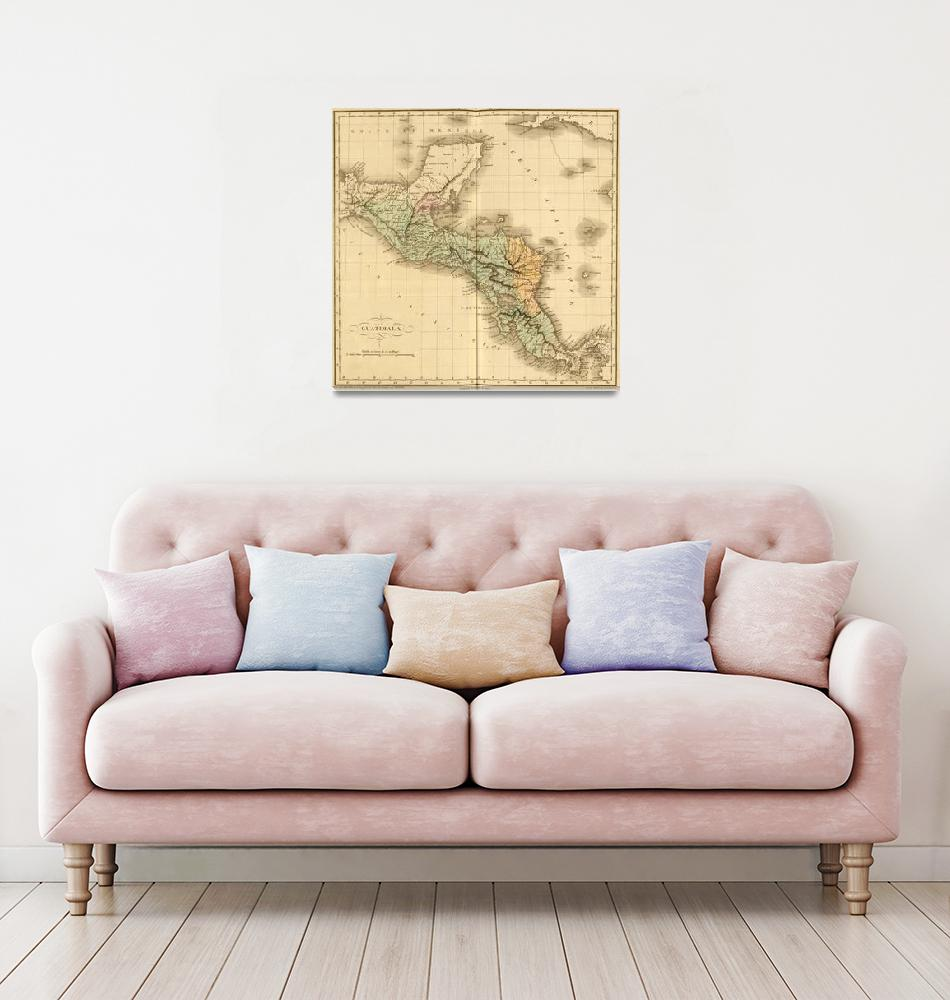 """Vintage Map of Guatemala (1825)""  by Alleycatshirts"