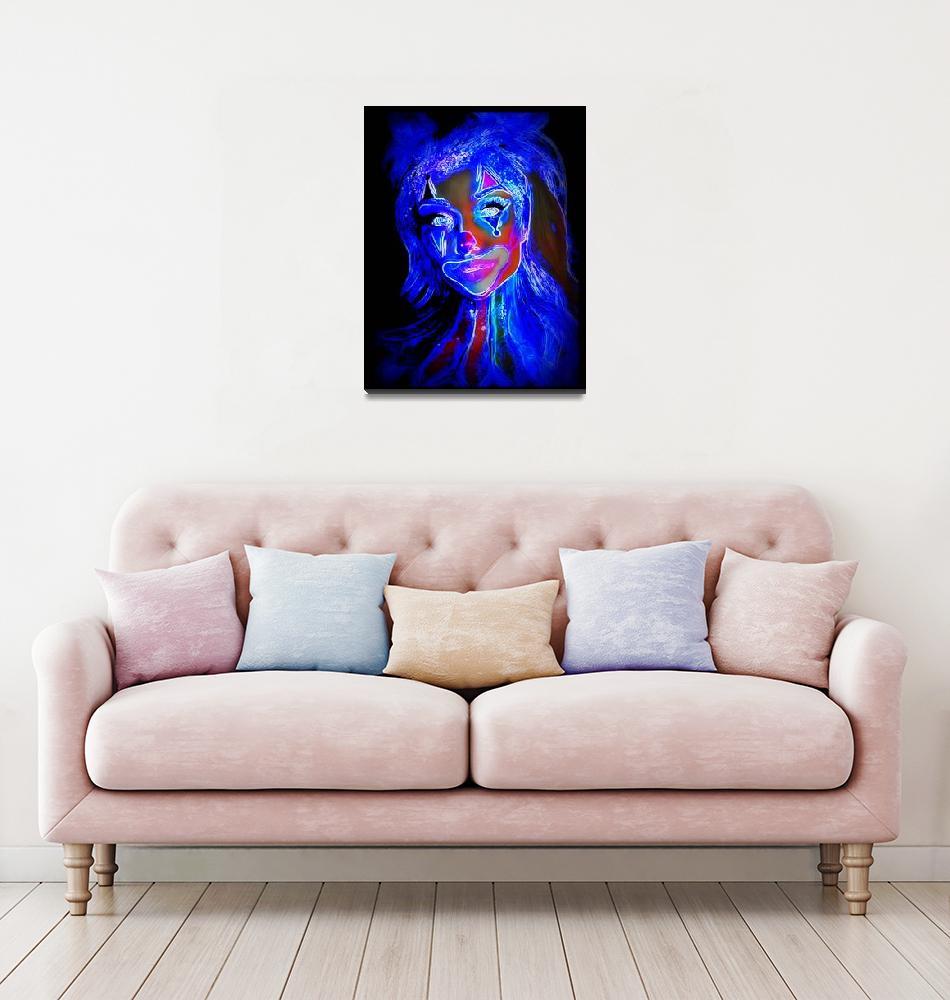 """sexy clown""  by artistMichaelTodd"