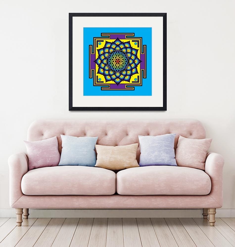 """""""Flower of Life Psychedelic Mandala""""  (2014) by GalacticMantra"""