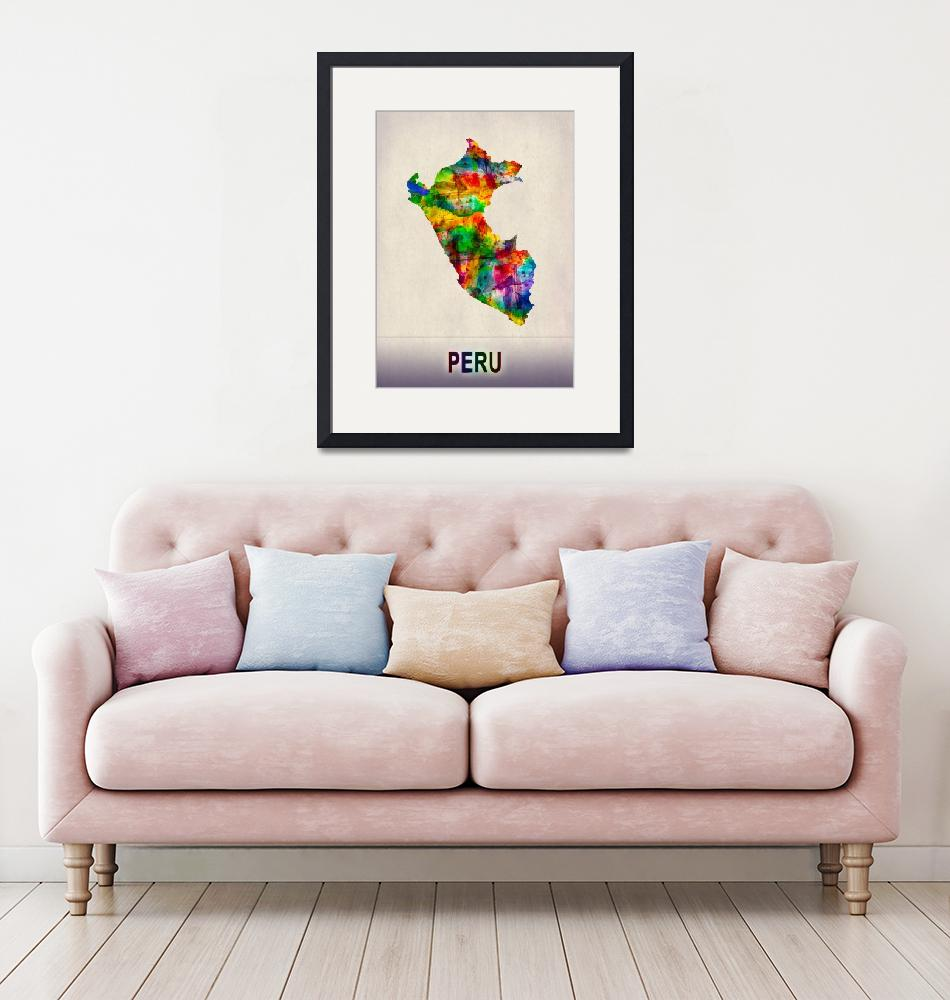 """""""Peru Map""""  by Towseef"""