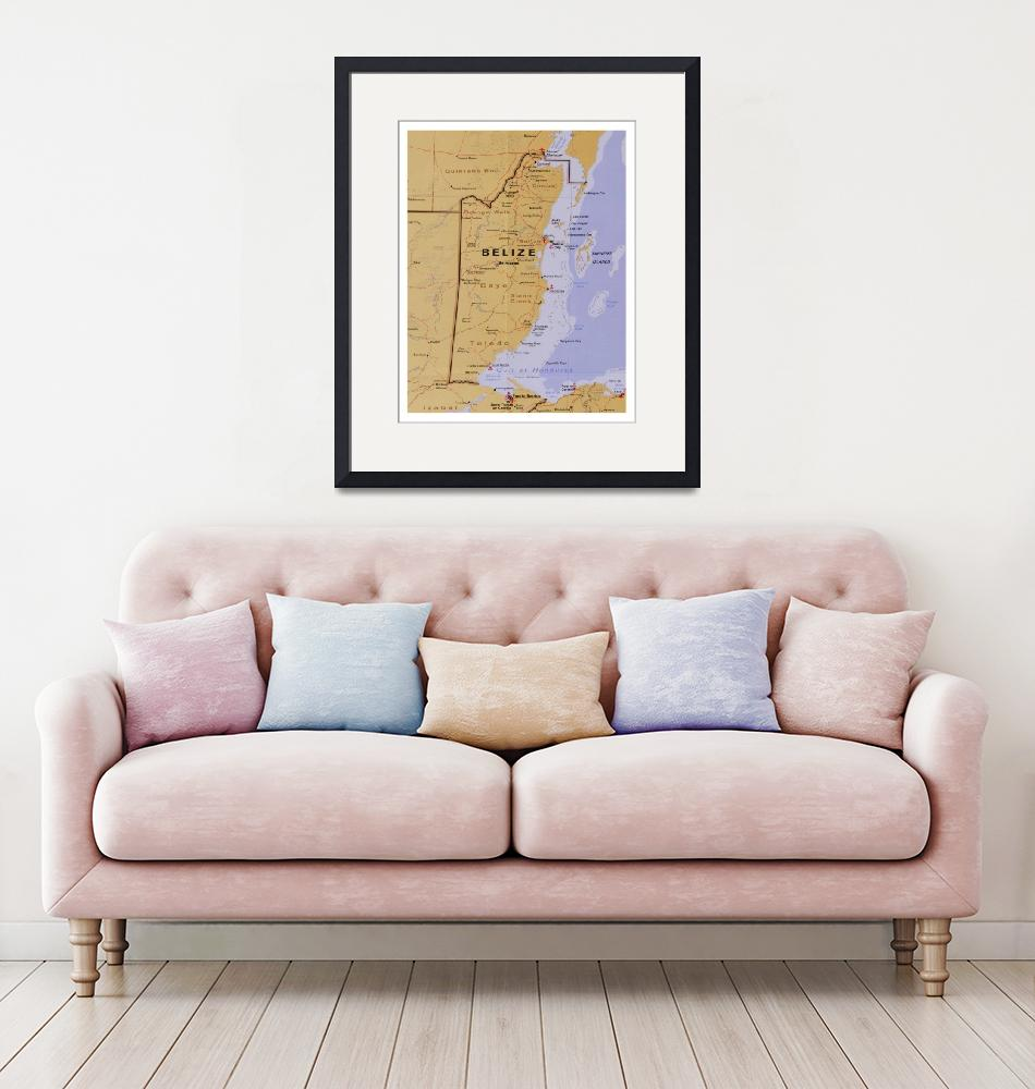 """""""Belize Map (1990) Central America Country Atlas""""  by Alleycatshirts"""
