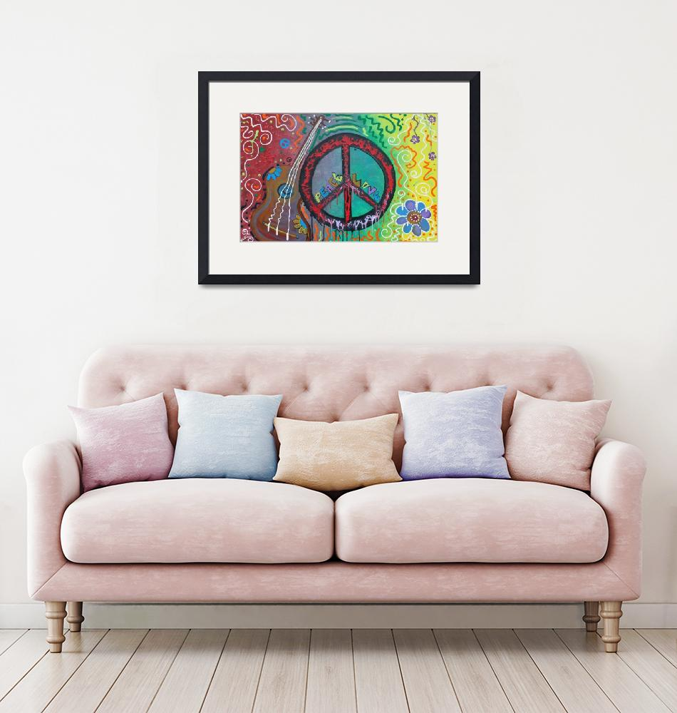 """""""Peace and Love""""  (2011) by ArtPrints"""