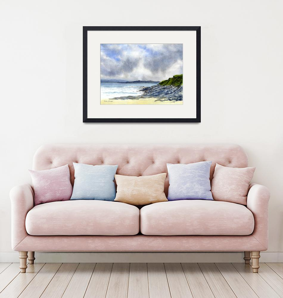"""""""Highland Coast with Rocky Shore, Scotland""""  (2012) by Pacific-NW-Watercolors"""