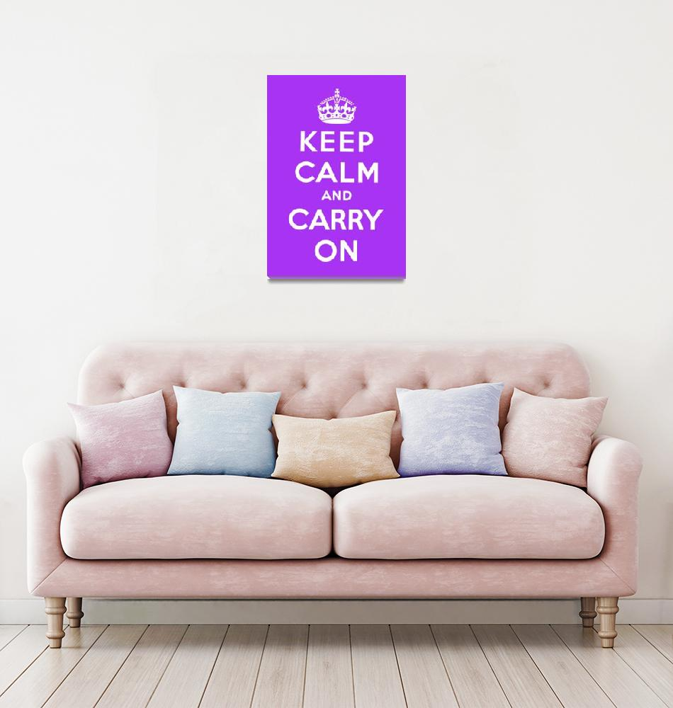 """""""Purple Keep Calm And Carry On 5""""  by oldies"""
