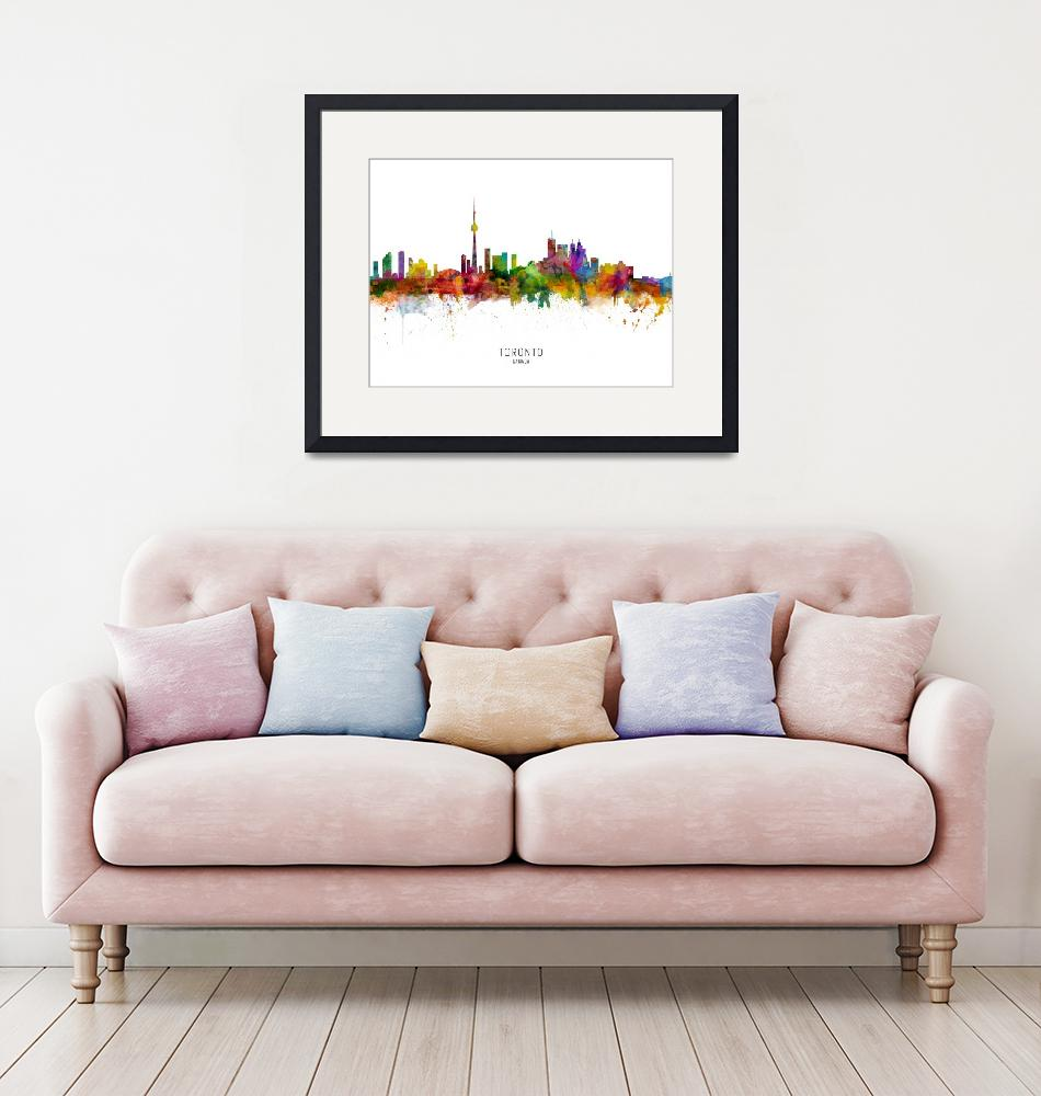 """Toronto Canada Skyline"" (2019) by ModernArtPrints"