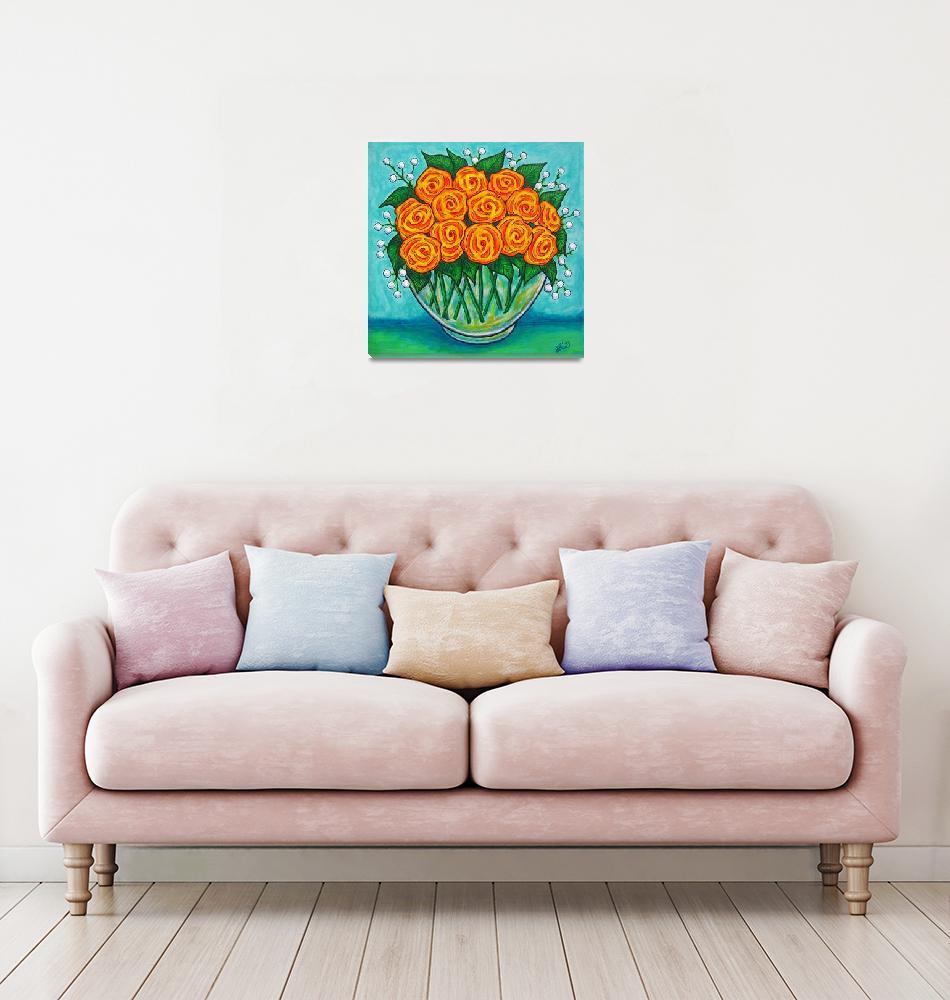 """""""Orange Passion Roses""""  (2009) by LisaLorenz"""