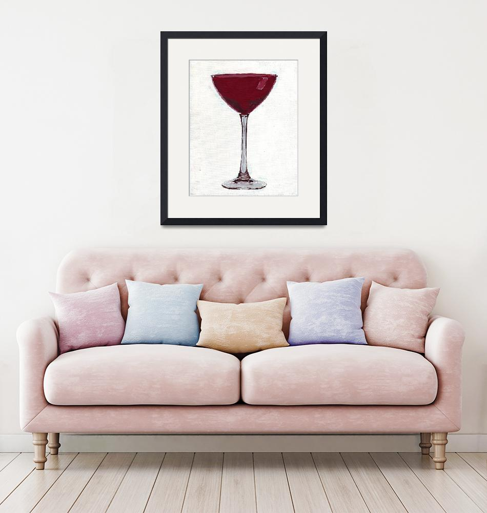 """""""RUBY MARTINI GLASS""""  (2006) by RuthDriedger"""