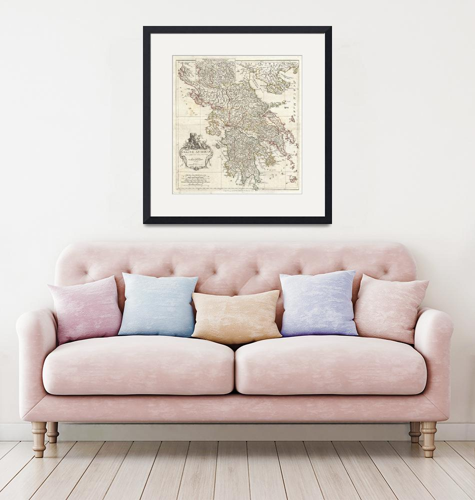 """Vintage Map of Greece (1794)""  by Alleycatshirts"