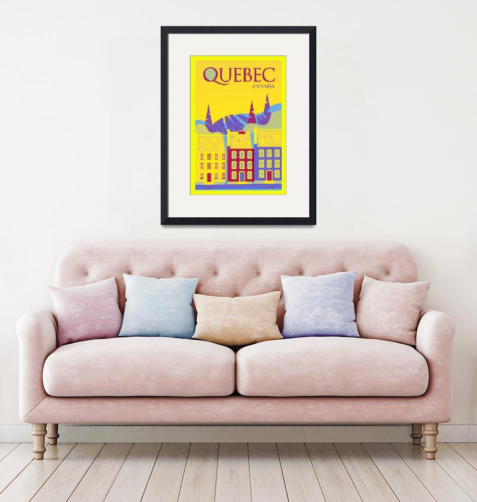 """""""Travel Poster of Quebec 08"""" by Arpina"""