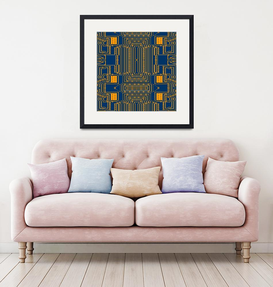 """""""Computer Age (Circuit Board) 3""""  (2019) by thegriffinpassant"""