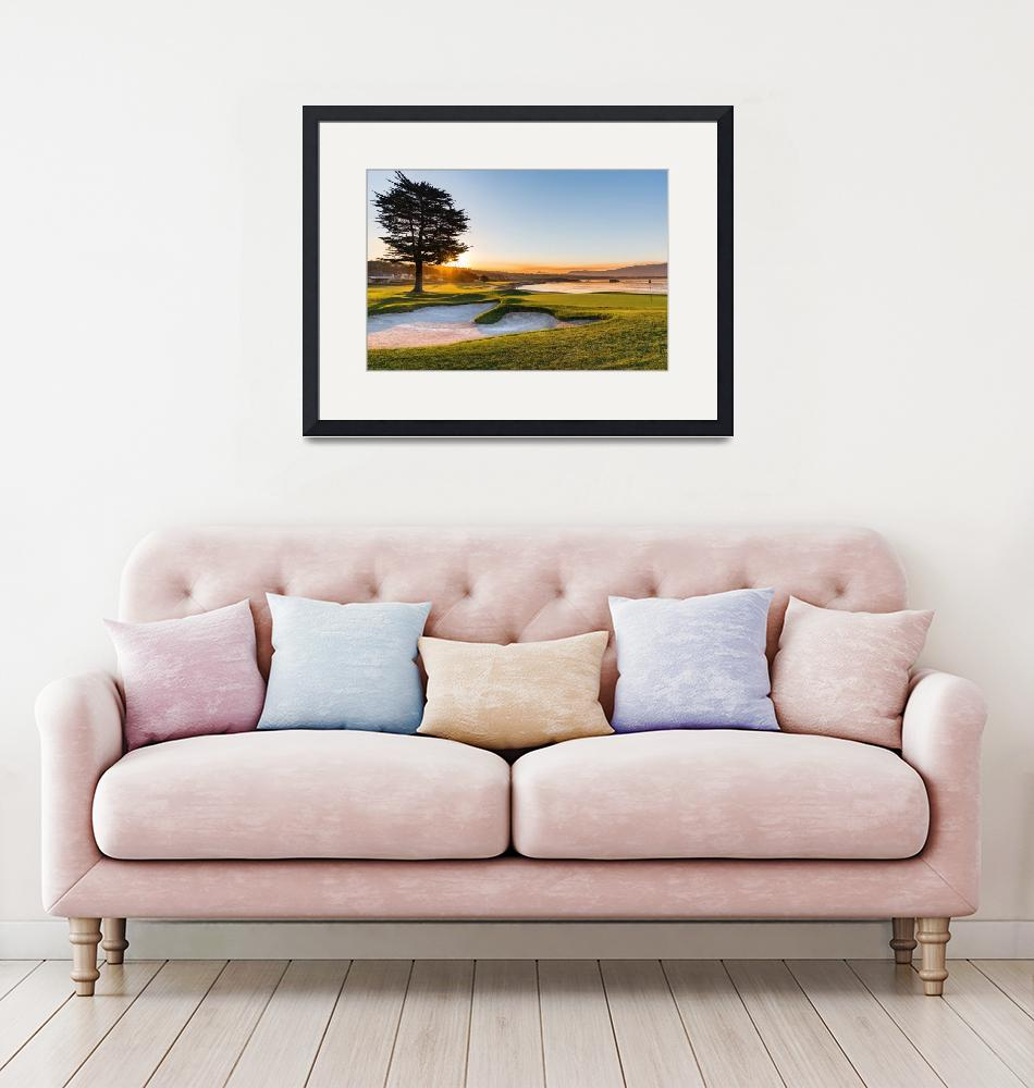 """""""18th at Pebble Beach Golf Course""""  (2016) by centioliphotography"""