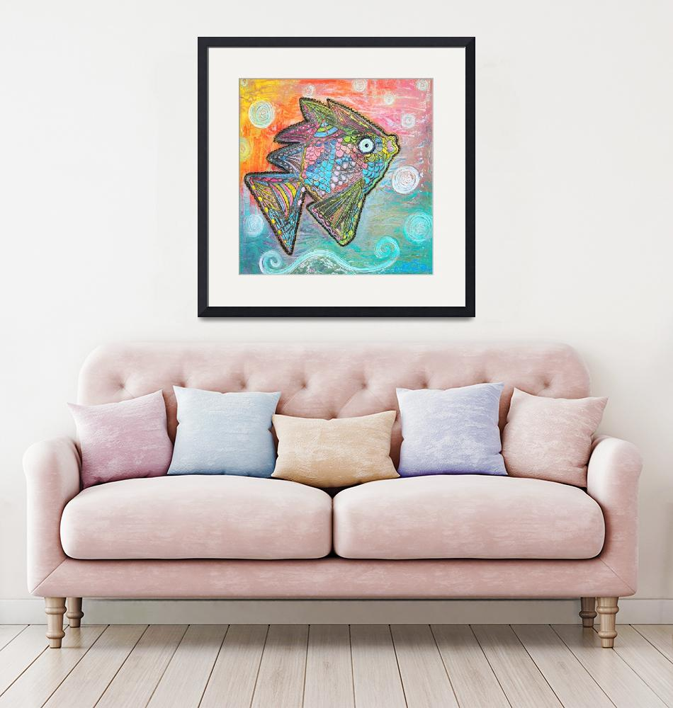 """""""Psychedelic Fish"""" (2015) by ArtPrints"""