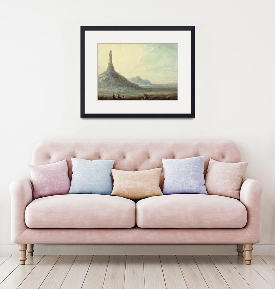 """""""Chimney Rock, 1837 (w/c on paper)""""  by fineartmasters"""
