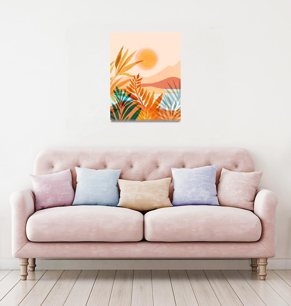 """""""Golden Greek  Garden""""  (2019) by moderntropical"""