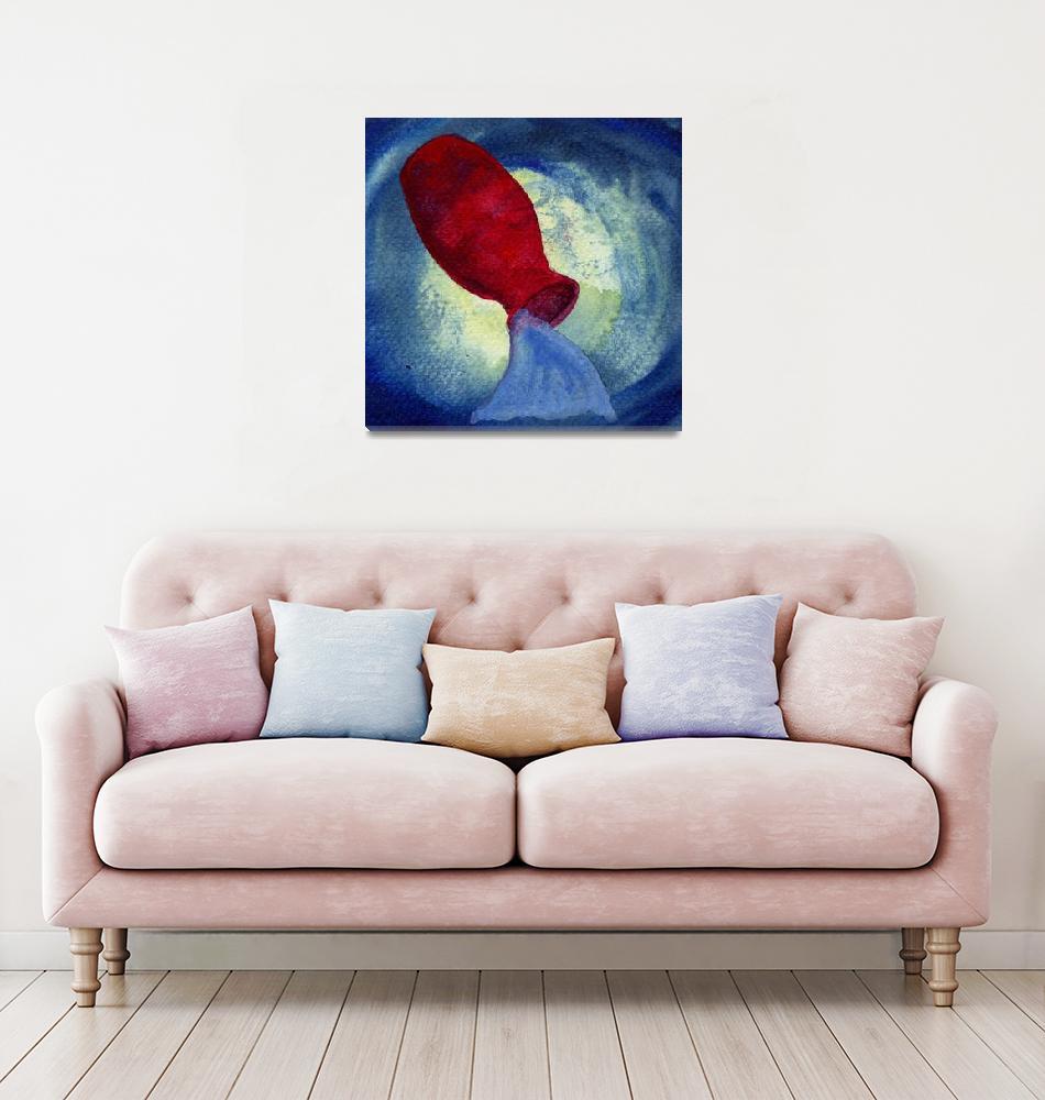 """Aquarius Zodiac Horoscope Painting""  (2015) by rotenbergposters"