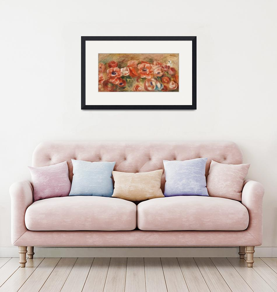 """""""Anemones by Renoir"""" by FineArtClassics"""