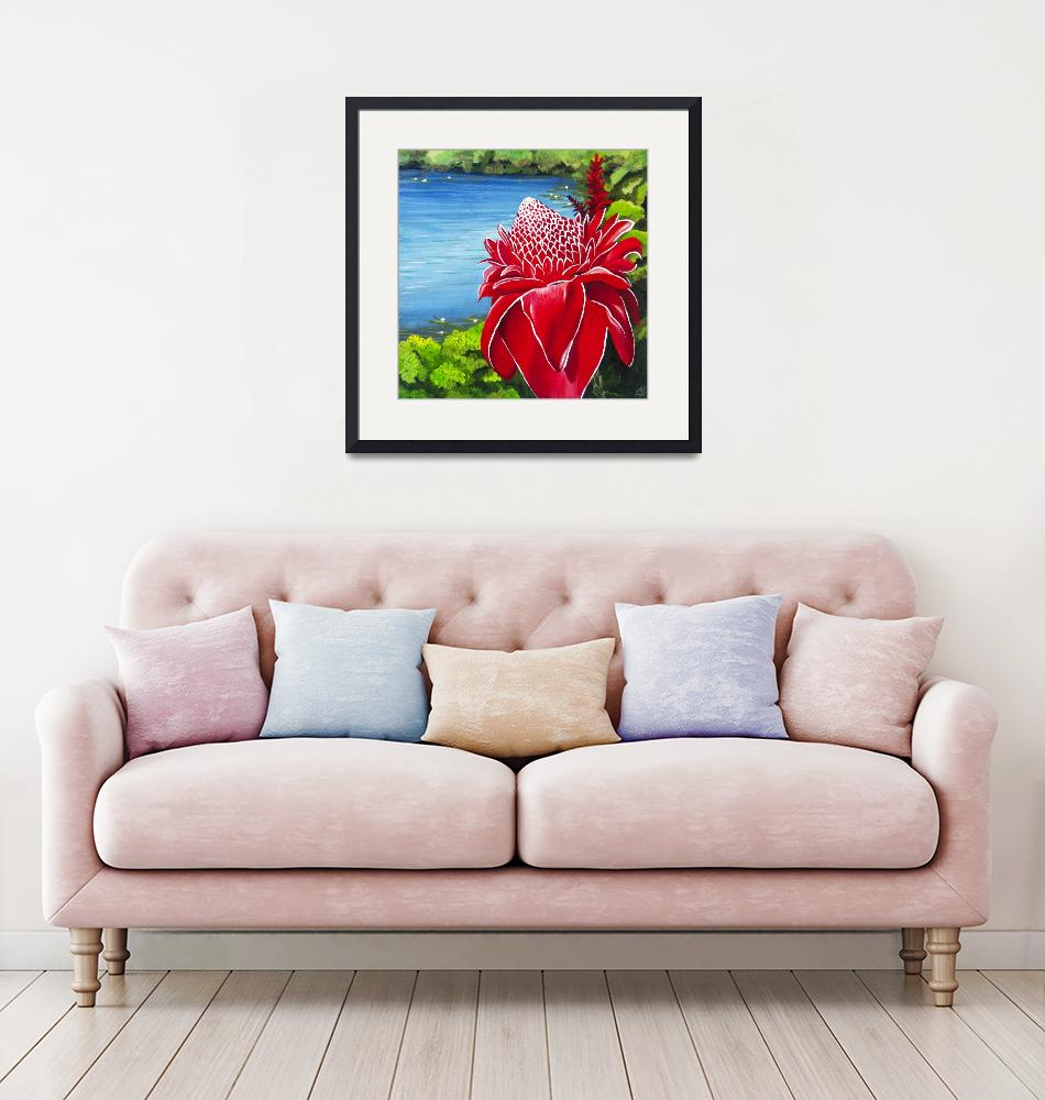 """""""Red Torch Ginger Lily""""  (2013) by monicadowns"""