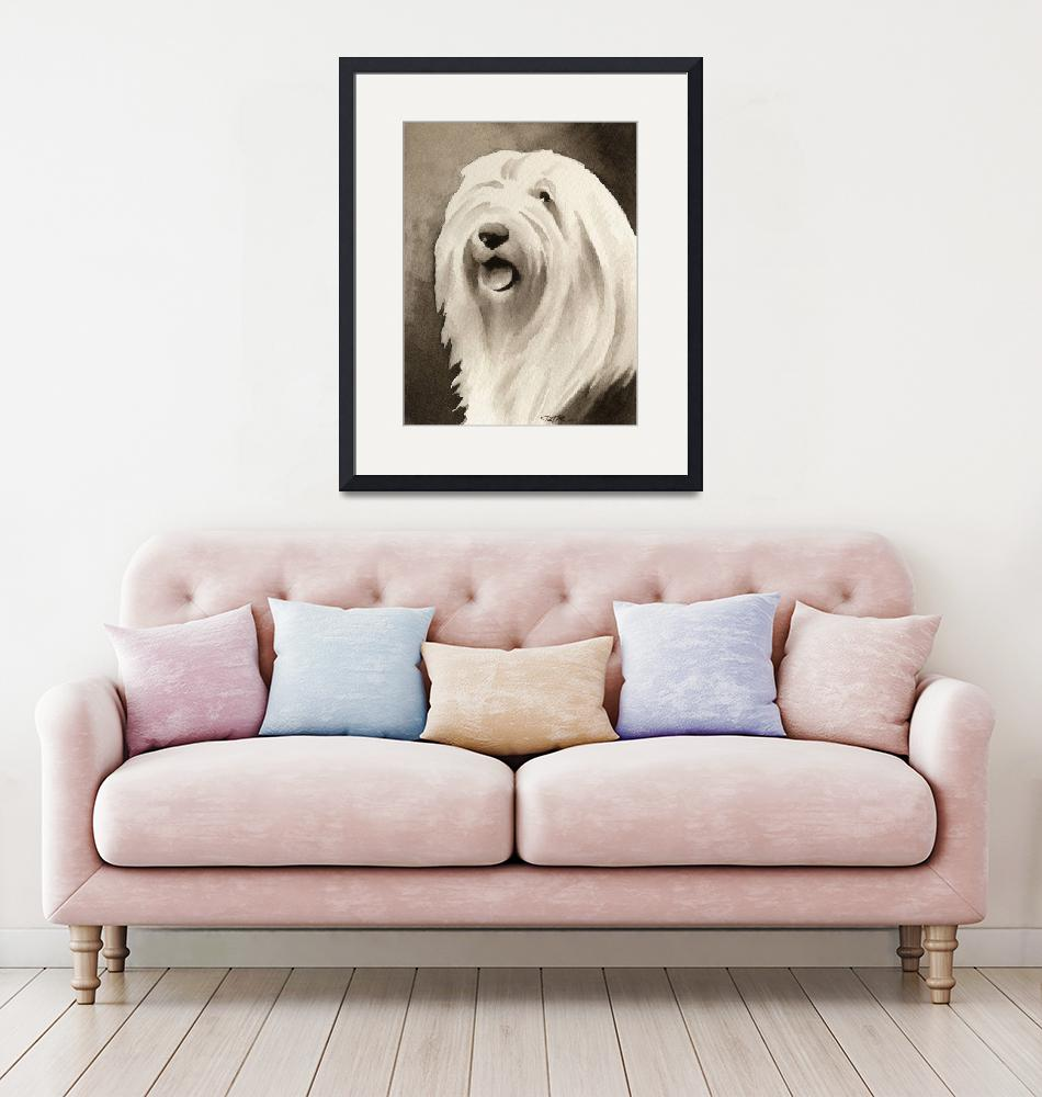 """Old English Sheepdog""  (2010) by k9artgallery"