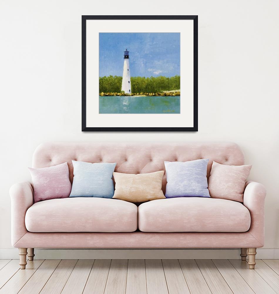 """""""Cape Florida Lighthouse""""  (2014) by rosiephillips"""